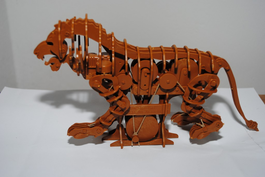 Unser Model des Mechanischen Löwen von Leonardo Da Vinci