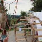 Leonardo Rad und Riesenseifenblasen